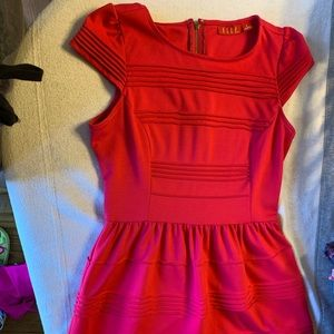Bright pink professional dress with capped sleeves